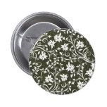 Estampado de flores verde oliva de Trumpetflower Pins