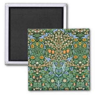 Estampado de flores William Morris del vintage Imán Cuadrado