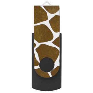 Estampado de girafa adaptable Thumbdrive Memoria USB 3.0 Giratoria