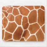 Estampado de girafa alfombrillas de ratón