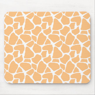 Estampado de girafa anaranjado Mousepad