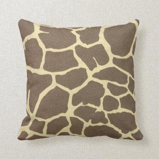 Estampado de girafa cojines