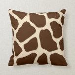 Estampado de girafa cojin