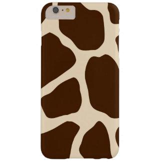 Estampado de girafa de Brown Funda De iPhone 6 Plus Barely There