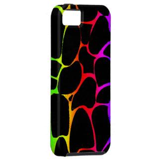 Estampado de girafa del arco iris iPhone 5 funda