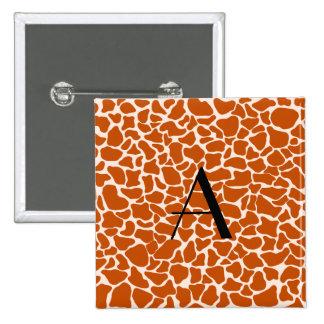 Estampado de girafa del naranja del monograma