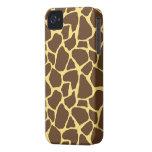 Estampado de girafa elegante iPhone 4 Case-Mate carcasas