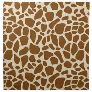 Estampado de girafa falso servilleta de papel