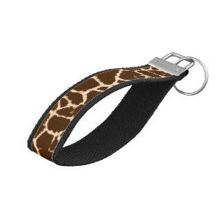 Estampado de girafa llavero de pulsera