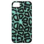 Estampado de girafa metálico de la verde menta iPhone 5 carcasa