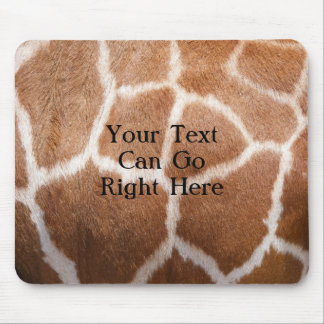 Estampado de girafa Mousepad Tapete De Raton