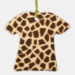 Estampado de girafa - ornamento de la camiseta ornamento de navidad