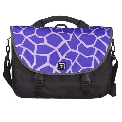 Estampado de girafa púrpura bolsas de portátil