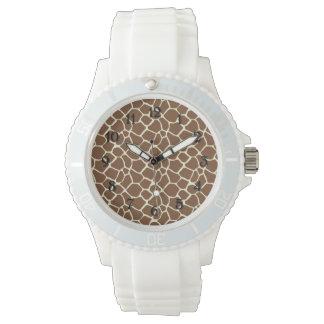 Estampado de girafa reloj