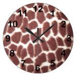 Estampado de girafa relojes de pared
