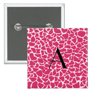 Estampado de girafa rosado del monograma