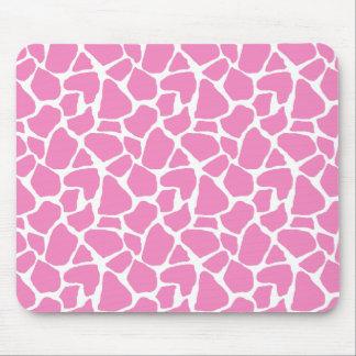 Estampado de girafa rosado Mousepad