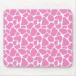 Estampado de girafa rosado Mousepad Tapete De Ratones