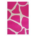 Estampado de girafa rosado papeleria personalizada