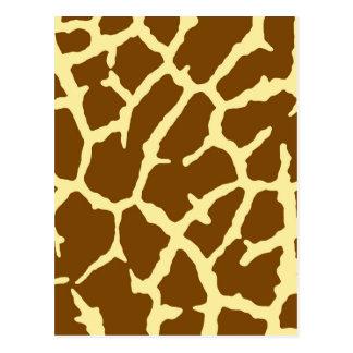 Estampado de girafa tarjetas postales