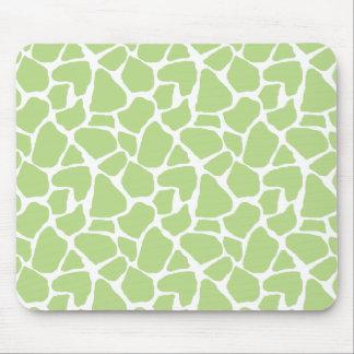 Estampado de girafa verde Mousepad