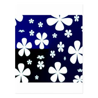 Estampado de plores abstracto de la flor postal