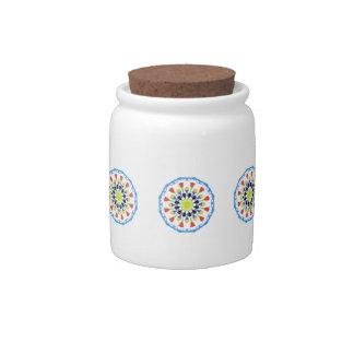 Estampado de plores abstracto tarro de cerámica para dulces
