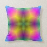 Estampado de plores abstracto multicolor almohadas