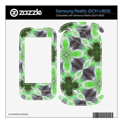 Estampado de plores abstracto verde samsung reality skins