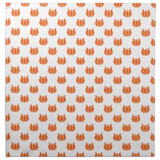 Estampado de plores anaranjado 5 del Celosia Servilletas