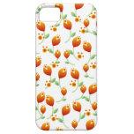 Estampado de plores anaranjado iPhone 5 cobertura