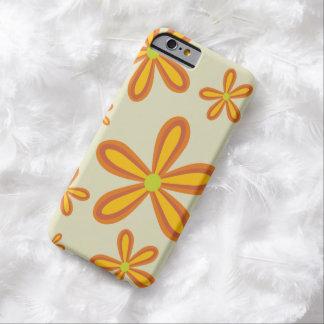 estampado de plores anaranjado retro 70ies funda barely there iPhone 6