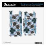 Estampado de plores azul abstracto skins para BlackBerry pearl
