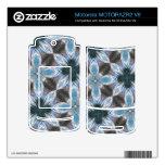 Estampado de plores azul abstracto MOTORAZR2 v9 skins