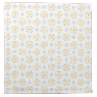 Estampado de plores azul amarillo de la margarita  servilleta imprimida