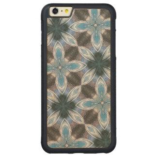 Estampado de plores azul funda de arce bumper carved® para iPhone 6 plus