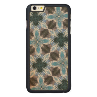 Estampado de plores azul funda de arce carved® para iPhone 6 plus slim