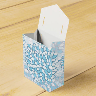 Estampado de plores azul y blanco cajas para regalos