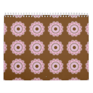Estampado de plores Brown Calendarios
