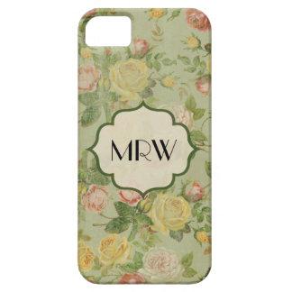 Estampado de plores con monograma floral del iPhone 5 cárcasas