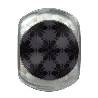 Estampado de plores de Black&White Jarras De Cristal Jelly Bely
