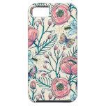 Estampado de plores de la rosaleda del vintage iPhone 5 Case-Mate cobertura
