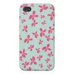Estampado de plores de las rosas fuertes de la ver iPhone 4/4S carcasa