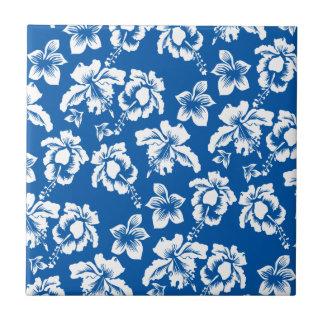 Estampado de plores del azul de Hawiian Azulejo