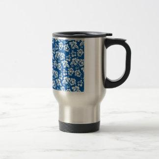 Estampado de plores del azul de Hawiian Taza De Café