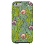 Estampado de plores del cactus funda resistente iPhone 6