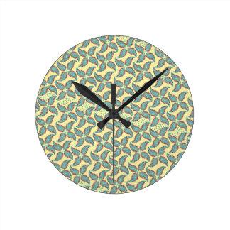 Estampado de plores del vintage de Paisley del Reloj Redondo Mediano