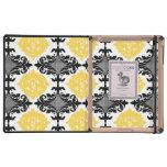 Estampado de plores femenino floral del damasco am iPad coberturas
