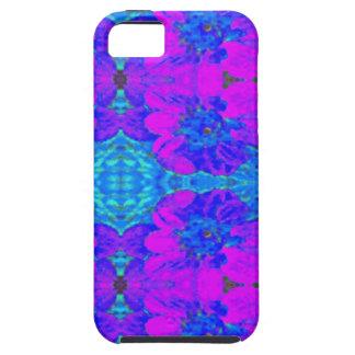 Estampado de plores floral abstracto de la dalia iPhone 5 carcasas