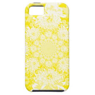 Estampado de plores floral amarillo elegante de la iPhone 5 Case-Mate protector